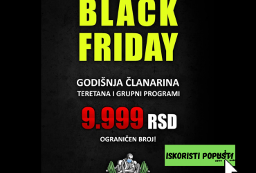 Black Friday u Central Fitness-u u Veterniku